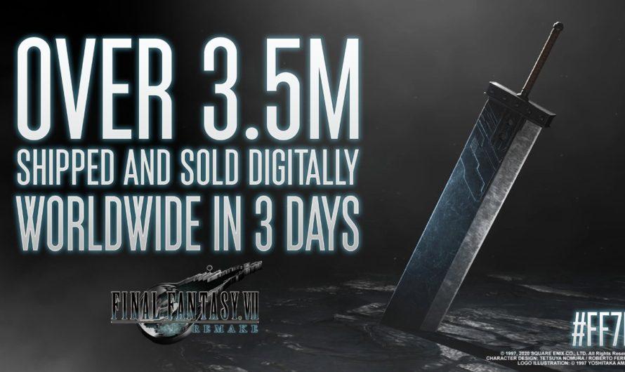 Final Fantasy 7 Remake vendió 3.5 millones de copias en todo el mundo en solo 3 días