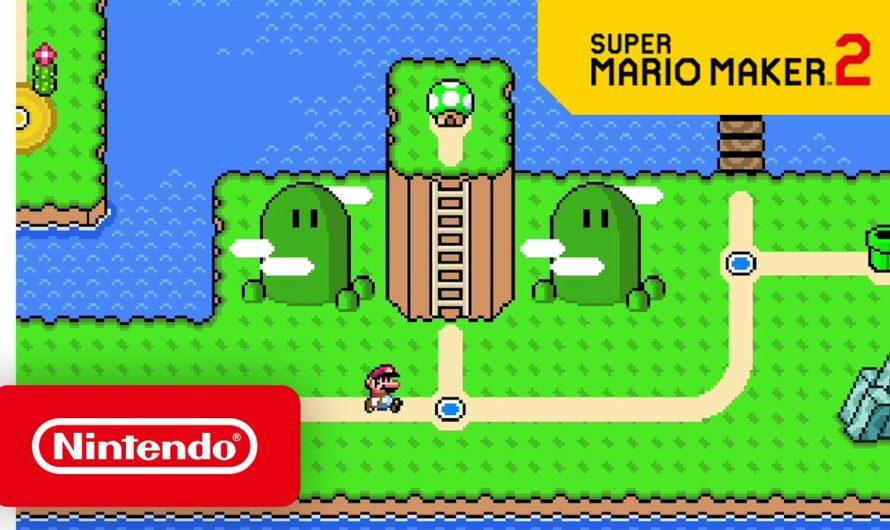La próxima actualización de Super Mario Maker 2 te permite crear tus propios mundos