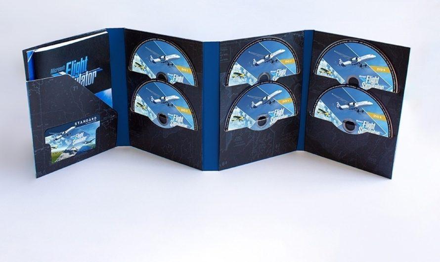La versión física de Microsoft Flight Simulator viene con 10 discos