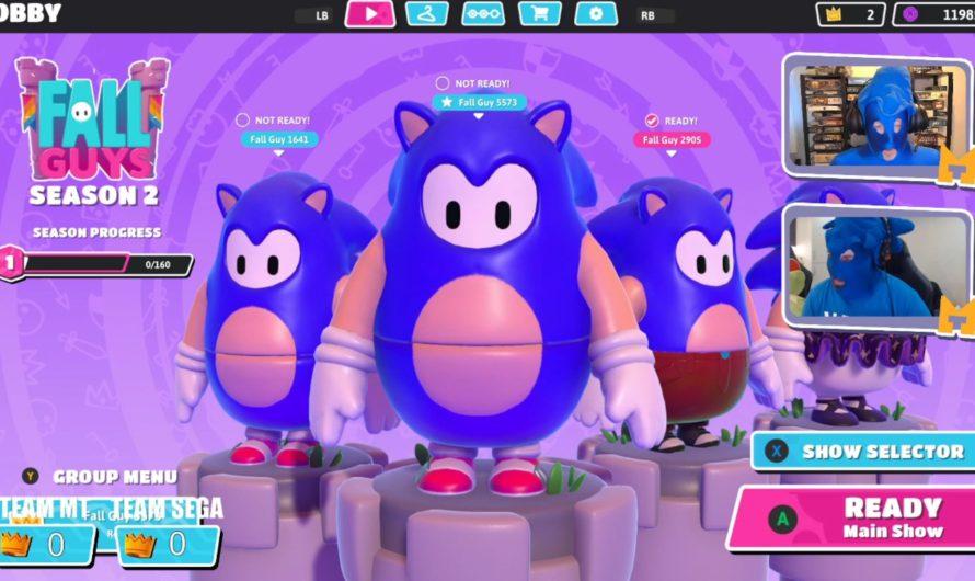 Juega como un pequeño y gordito Sonic en Fall Guys