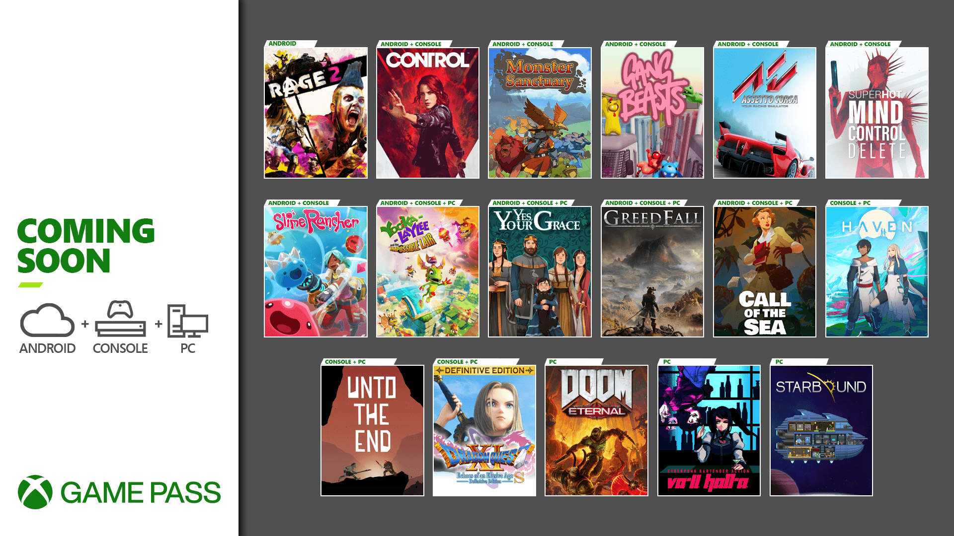 Xbox Game Pass estará recibiendo 17 juegos nuevos este mes